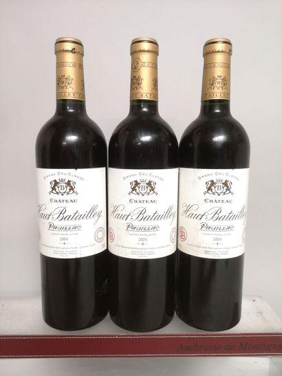 3 bouteilles Château HAUT BATAILLEY - 5e...