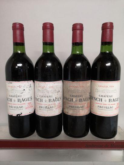 4 bouteilles Château LYNCH BAGES - 5e Gcc...