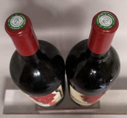 2 magnums Le PETIT MOUTON - 2nd vin du château MOUTON ROTHSCHILD Pauillac 1994 Etiquettes...