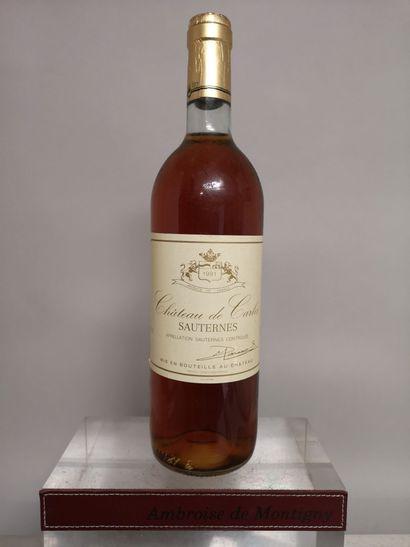 1 bouteille Château de CARLES - Sauternes...