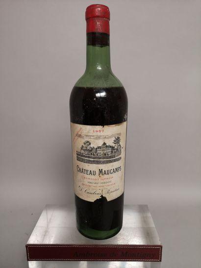 1 bouteille Château MAUCAMPS - Macau Médoc...