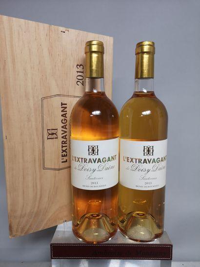 2 bouteilles L'EXTRAVAGANT de DOISY DAËNE...