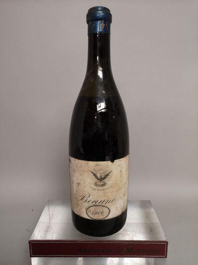 1 bouteille BEAUNE - 1912 Producteur inconnu...