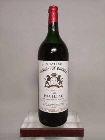 1 magnum Château GRAND PUY DUCASSE - 5e GCC...