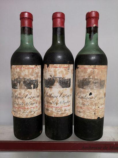 3 bouteilles Château CANON - 1er GCC Saint...