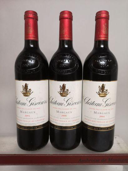 3 bouteilles Château GISCOURS - 3e GCC Margaux...