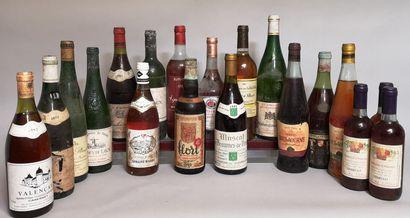 18 bouteilles VINS DIVERS - France et ETRANGERS...