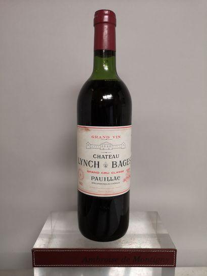 1 bouteille Château LYNCH BAGES - 5e Gcc...