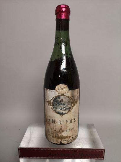 1 bouteille COTE DE NUITS - 1919 Ets. F....
