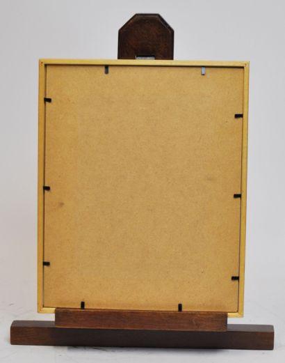 Ecole française du XXeme siècle  Composition abstraite  Acrylique sur papier signée...