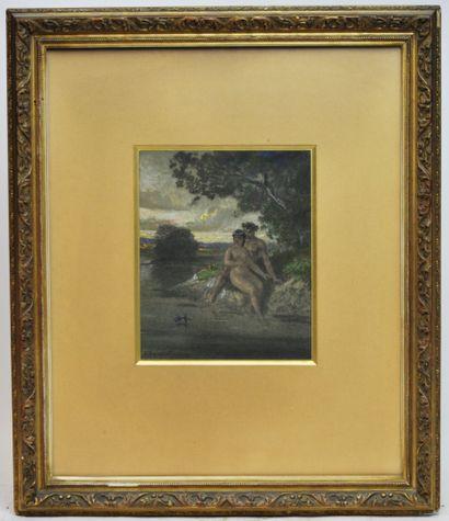 Jules Jacques VEYRASSAT (1828-1893)  L'amour...