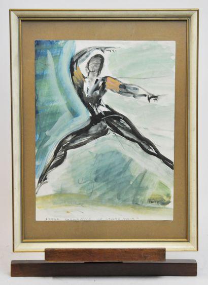 Jean TOTH (1899-1972)  Serge Golovine