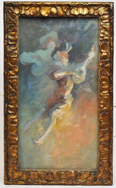 Jules CHERET (1836-1932)  Les joueurs de...