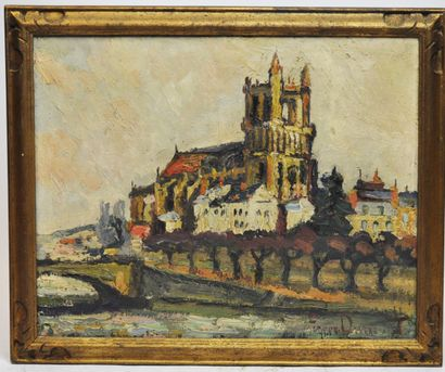 Pierre-Jean DUMONT (1884-1936)  Cathédrale...