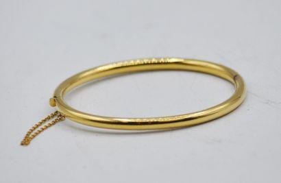 Bracelet jonc en or 750 millièmes, chaine...