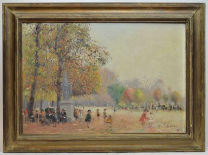 Edouard FEBVRE (1885-1967)  Jardin du Luxembourg...