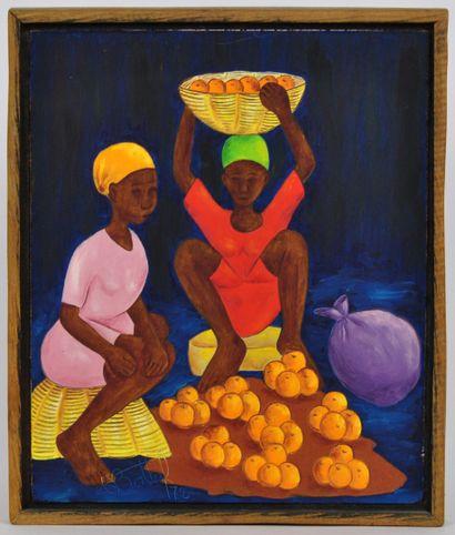 BOTTEF. Ecole Haïtienne du XXème siècle  Scènes...