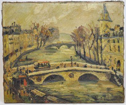 Pierre-Jean DUMONT (1884-1936)  Le Pont...
