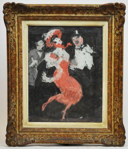 Jules CHERET (1836-1932)  Scène de banquet...