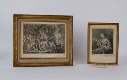 Lot de deux gravures du XVIIIème siècle comprenant:...