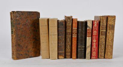 Lot de livres anciens reliés comprenant:...