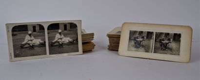PHOTOGRAPHIES  Lot de planches photographiques,...
