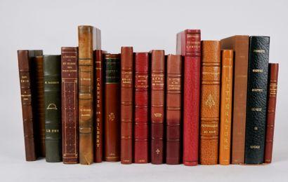 Lot de livres reliés comprenant:  BANVILLE...