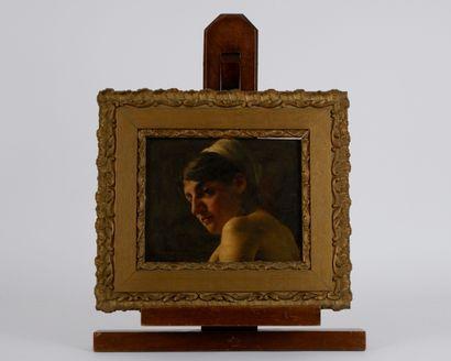 Roberto MARSHALL (1849-1926)  Jeune femme...