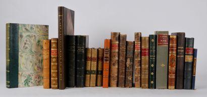 Lot de livres reliés autour de la littérature:...