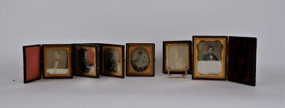 PHOTOGRAPHIES  Lot de six daguerréotypes...
