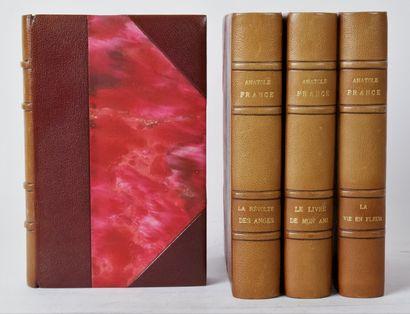 France (Anatole). Suite de 3 ouvrages comprenant:...