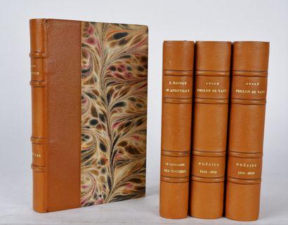 Lot de livres reliés comprenant:  MUSSET...