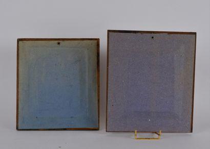 PHOTOGRAPHIES  Lot de deux daguerréotypes représentant des portraits de femme. Dans...