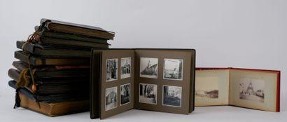 Lot de 11 albums photographiques du début...