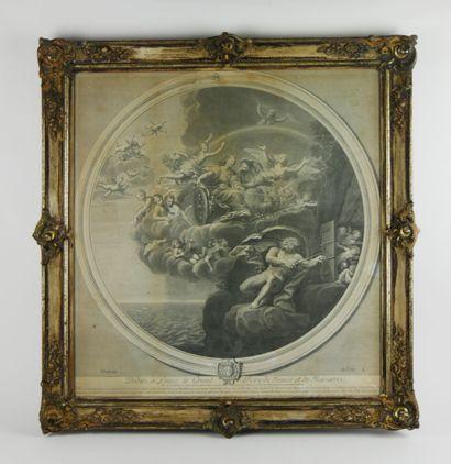 D'après Francesco ALBI, gravé par Estienne...