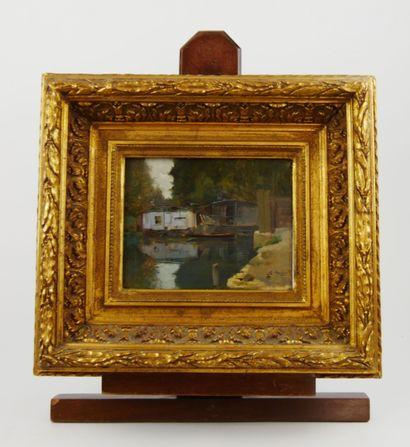 Ecole du XXème siècle. S.MEYER  Maisons flottantes...