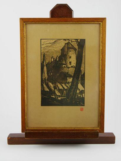 Fernand CHALANDRE (1879-1924)  Lot de quatre...