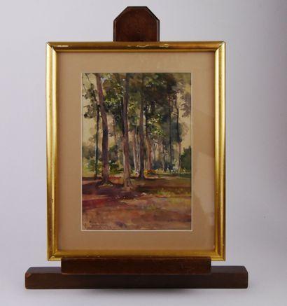 Pierre CHAPUIS (1863-1942)  Pierrefonds  Aquarelle...