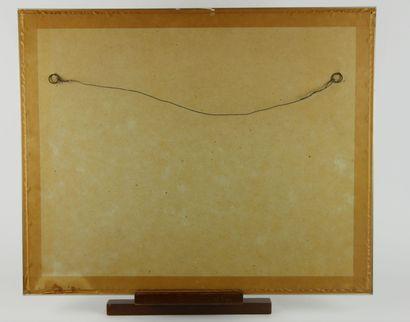 Ecole française du XXème siècle  Composition abstraite  Gouache sur papier signée...