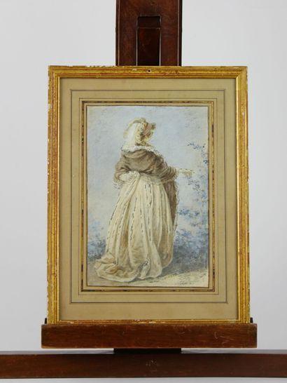 Ecole française du XVIIIème siècle  Femme...