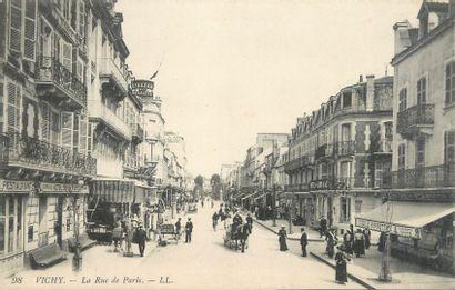 """133 CARTES POSTALES ALLIER : La Ville de Vichy. Dont"""" Les 4 Chemins et Rue de Nîmes..."""