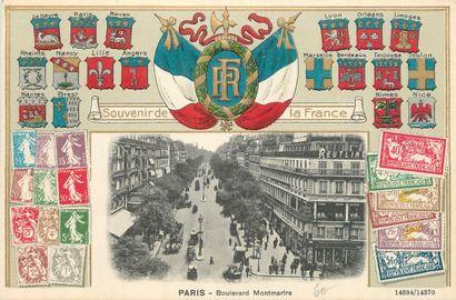 12 CARTES POSTALES PARIS : Cartes illustrées...