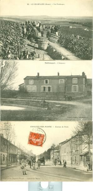 43 CARTES POSTALES MARNE: Villes, qqs villages...