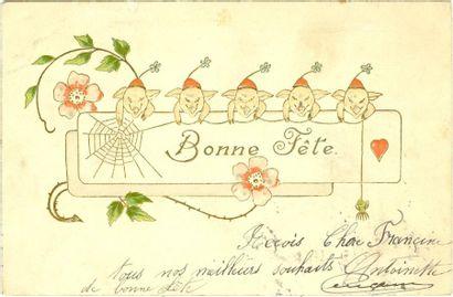 18 CARTES POSTALES LES COCHONS: Réels, Illustrés,...