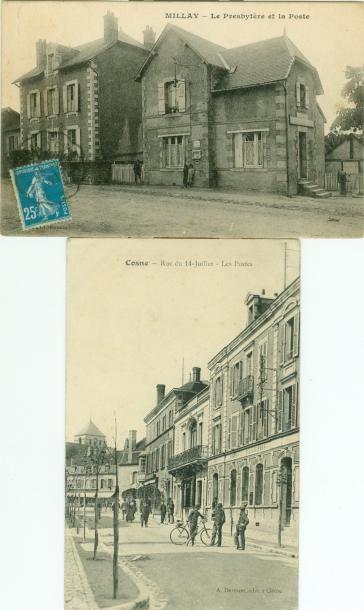 43 CARTES POSTALES NIEVRE: Villes, qqs villages...