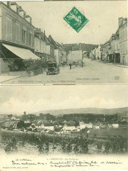 70 CARTES POSTALES YONNE: Villes, qqs villages...