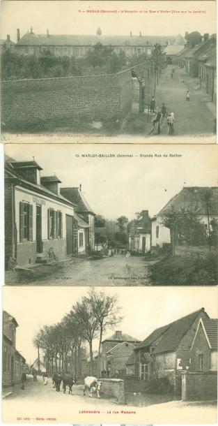 38 CARTES POSTALES SOMME: Villes, qqs villages...