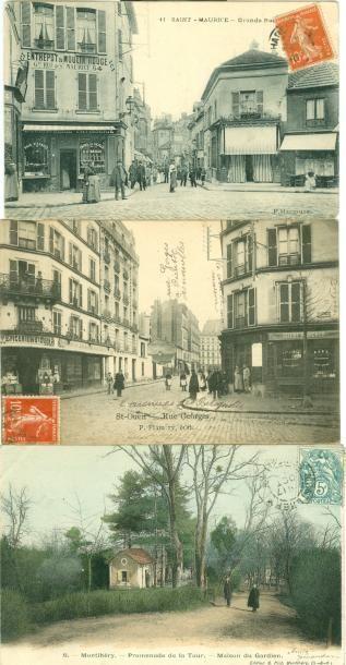 50 CARTES POSTALES REGION PARISIENNE: Dépts...