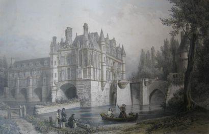 CHAPUY Château de Chenonceaux. Gravure par...