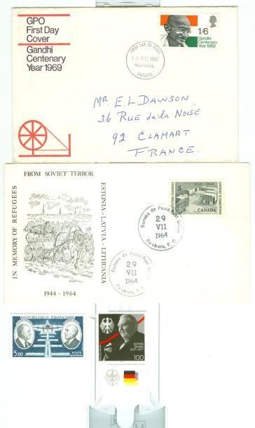 PHILATELIE: Une boite de timbres oblitérés...